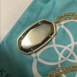 Kendra Scott Jewelry - Kendra Scott Long Necklace | Gold with Grey Stone